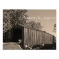 Recovery is a Journey poster/Motivational II Poster