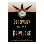 Recovery is my privilege print