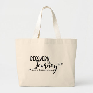 Recovery Journey Arrow Large Tote Bag