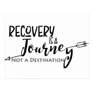Recovery Journey Arrow Postcard