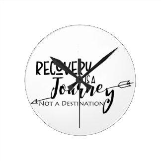 Recovery Journey Arrow Round Clock