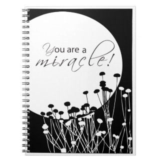 Recovery Miracle, Black and White Spiral Notebook