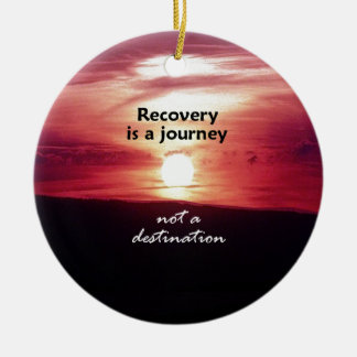 Recovery Double-Sided Ceramic Round Christmas Ornament
