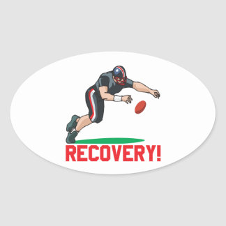 Recovery Oval Sticker