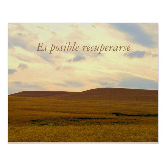 Persistence Motivational Quotes: Recovery Poster/Es Posible Recuperarse Poster