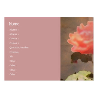 Recovery Roses Profile Card Business Card Template