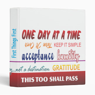 recovery slogans binder