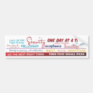 recovery slogans bumper sticker