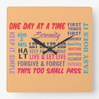 recovery Slogans clock