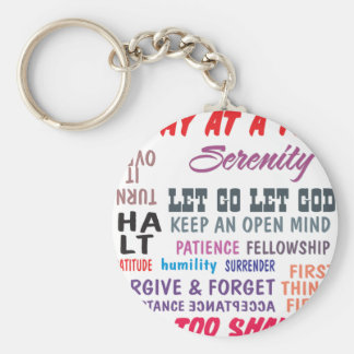 recovery slogans keychain