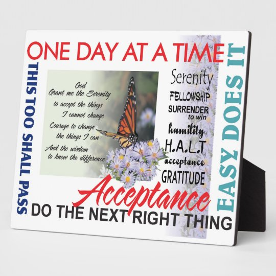 recovery slogans plaque