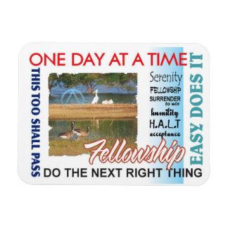 recovery slogans rectangular photo magnet