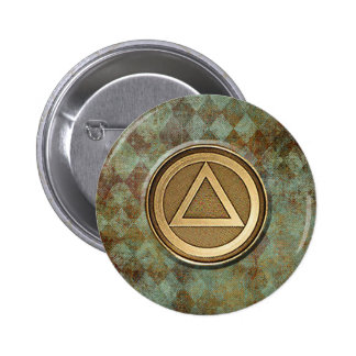Recovery Sobriety Sober 12-Step Anonymous Button