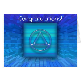 Recovery Sobriety Sober AA Congratulations Card