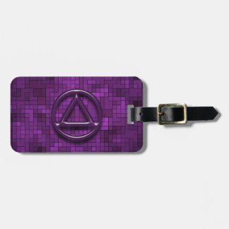 Recovery Sobriety Sober AA Tag For Luggage