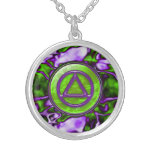 Recovery Sobriety Sober Necklace Pendant Round Pendant Necklace