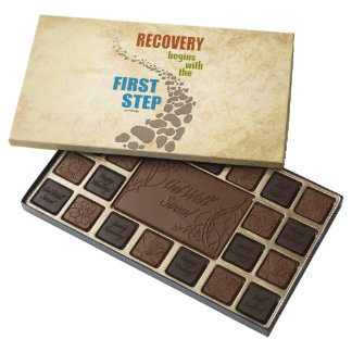 Recovery, the First Step (12 step, drug free) 45 Piece Box Of Chocolates