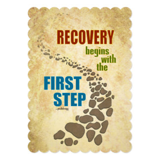 Recovery, the First Step (12 step, drug free) Card