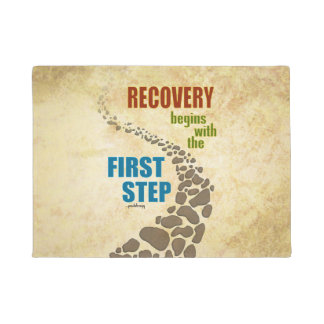 Recovery, the First Step (12 step, drug free) Doormat