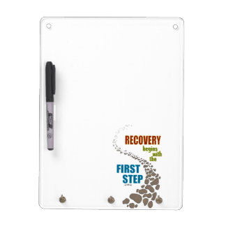 Recovery, the First Step (12 step, drug free) Dry Erase Board