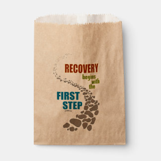 Recovery, the First Step (12 step, drug free) Favor Bag