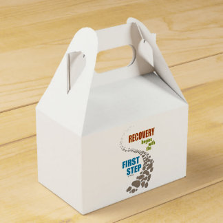 Recovery, the First Step (12 step, drug free) Favor Box