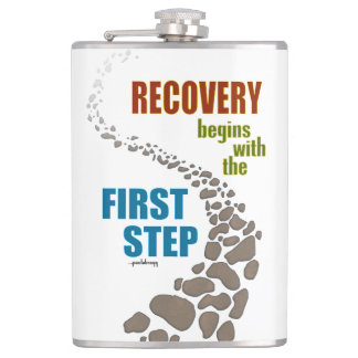Recovery, the First Step (12 step, drug free) Flask