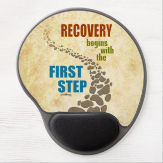 Recovery, the First Step (12 step, drug free) Gel Mouse Pad