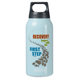Recovery, the First Step (12 step, drug free) Insulated Water Bottle