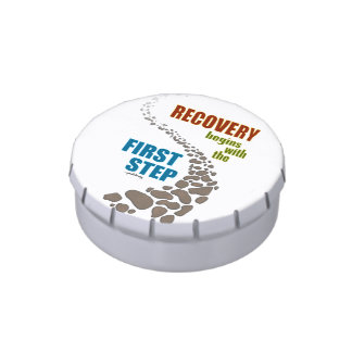 Recovery, the First Step (12 step, drug free) Jelly Belly Tins