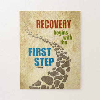 Recovery, the First Step (12 step, drug free) Jigsaw Puzzle