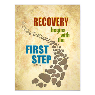 Recovery, the First Step (12 step, drug free) Magnetic Card