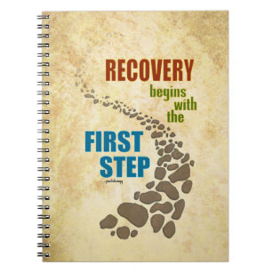 Recovery, the First Step (12 step, drug free) Notebook