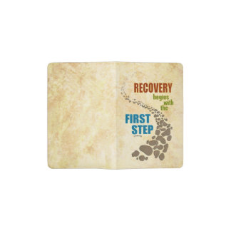 Recovery, the First Step (12 step, drug free) Pocket Moleskine Notebook