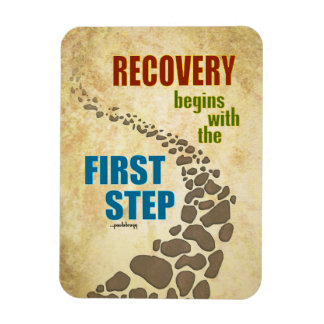 Recovery, the First Step (12 step, drug free) Rectangular Photo Magnet