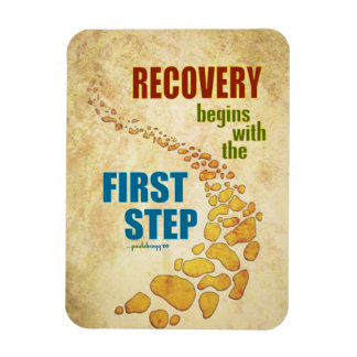 Recovery, the First Step (12 step, recovery) Magnet