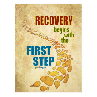 Recovery, the First Step (12 step, recovery) Postcard