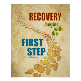elegant recovery the first step step recovery poster with poster cuisine. Black Bedroom Furniture Sets. Home Design Ideas