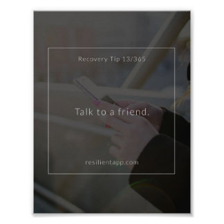 Recovery Tip #13 Poster