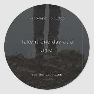 Recovery Tip #1 Classic Round Sticker