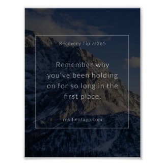 Recovery Tip #7 Poster