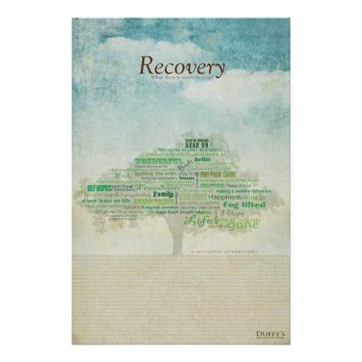 Recovery Tree Poster Zazzle