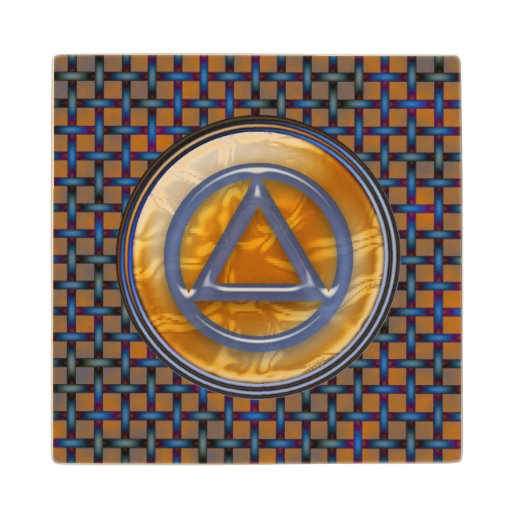 Recovery Wood Coaster Sober Sobriety AA