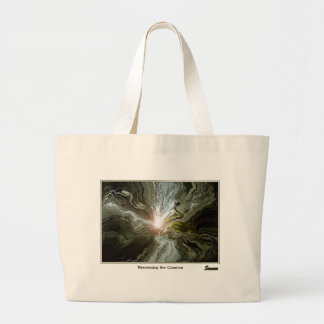 Recreating the Cosmos Large Tote Bag