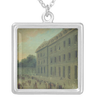 Recreation at the Saint-Lazare Prison Silver Plated Necklace