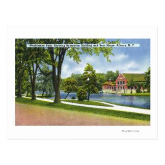 Recreation Bldg & Boathouse Postcard