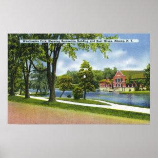 Recreation Bldg & Boathouse Poster