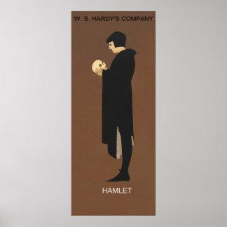 Recreation of Hamlet, vintage poster