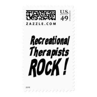 Recreational Therapists Rock ! Postage Stamp