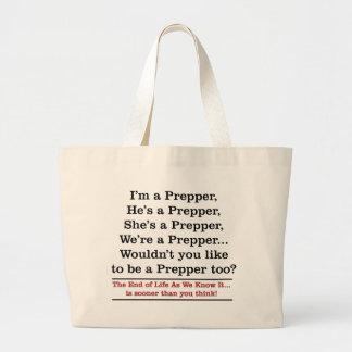 Recruit a Prepper Tote Bags